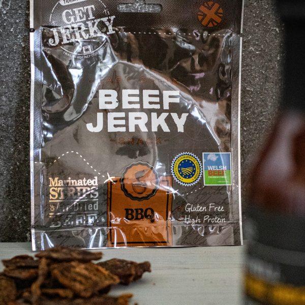 BBQ Beef Jerky Packet & Sauce