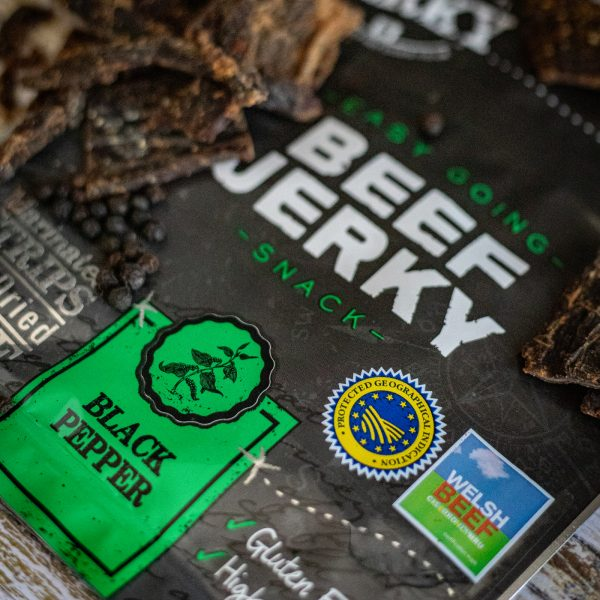 Black Pepper Beef Jerky with Pepper