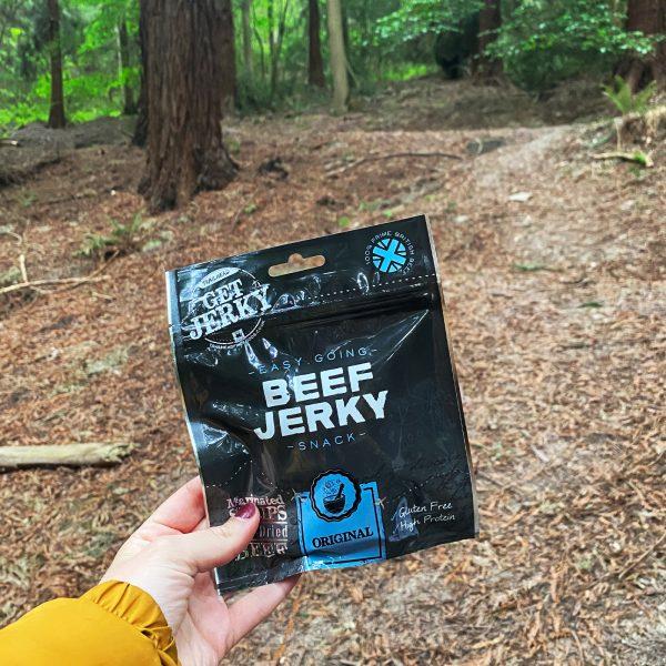 Original Beef Jerky Packet in woods